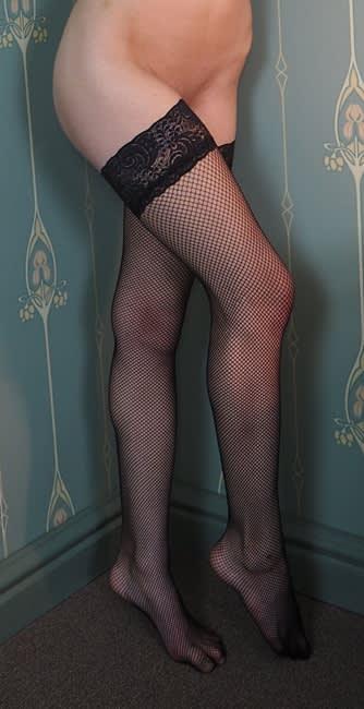 Master of Desire - Jersey - Fisnet med sorte blonder