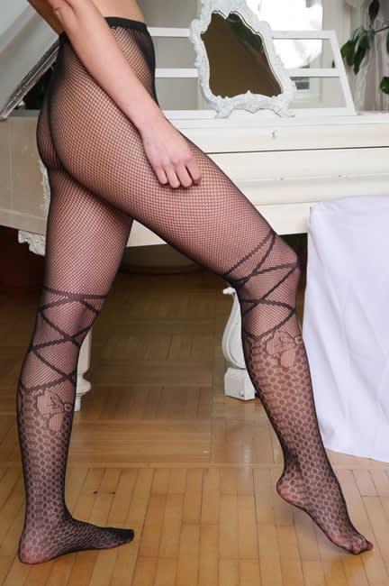 Master of Desire - Notche - Stockings med vævet blonde