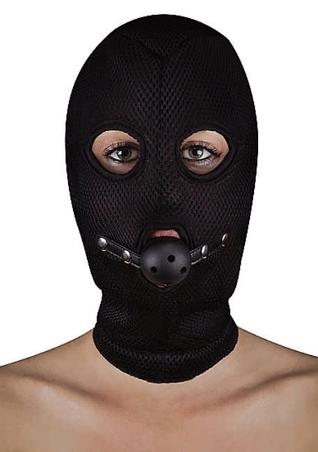 Ouch! - Extreme trådnät mask med Open Ball Gag
