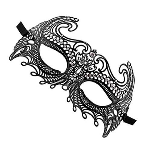 Ouch! - Havgudinne Masquerade Mask - Sort