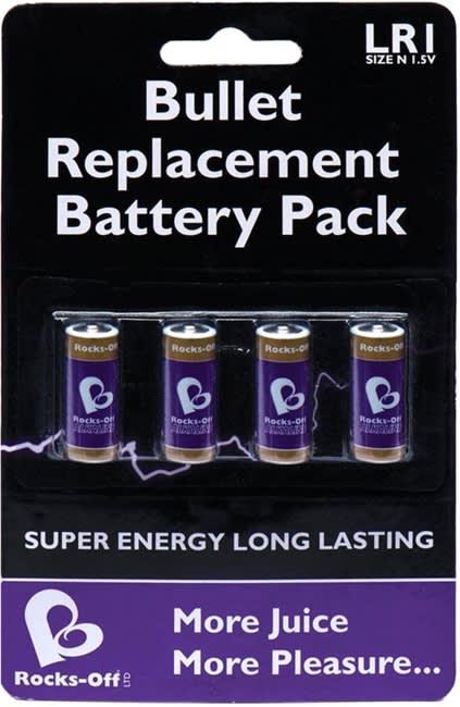 Rocks-Off - Batteripakke (4 X LR1/Størrelse N 1,5V)