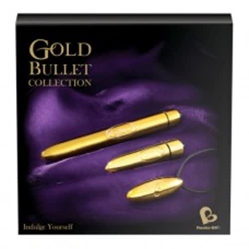 Rocks-Off - Gold Bullet Gift Box - Superlækker gaveæske med 3 GOLD bullets