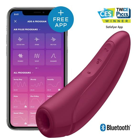 Satisfyer Curvy 1+ App Controlled Clit Vibrator Rosa