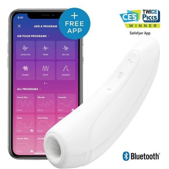 Satisfyer Curvy 1+ App Controlled Clit Vibrator valkoinen