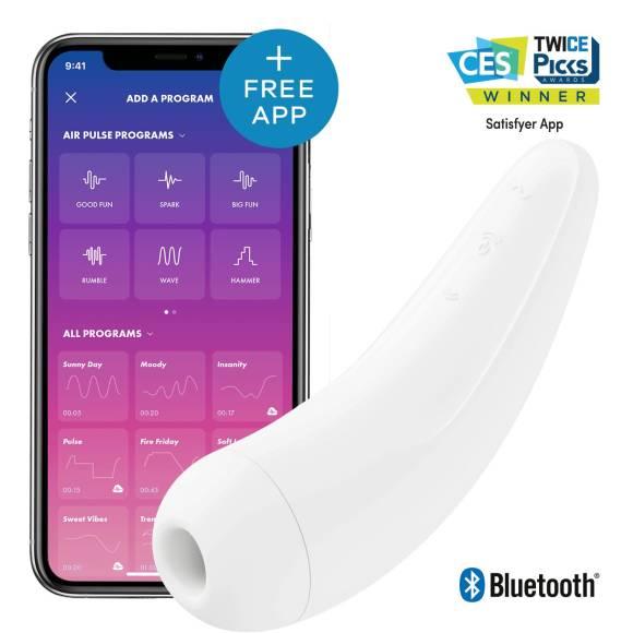 Satisfyer Curvy 2+ AIR Pulse Stimulartor App-controlled Hvit