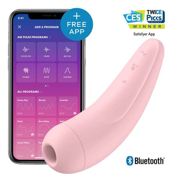 Satisfyer Curvy 2+ AIR Pulse Stimulartor App-controlled Pink
