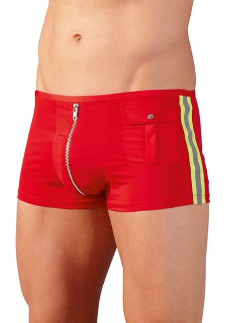 Svenjoyment - Firefighter Pants - Snygga, röda brandmans boxershorts