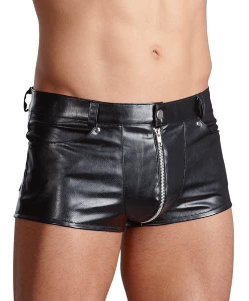 Svenjoyment - Men's Pants - Shorts i imiteret læder