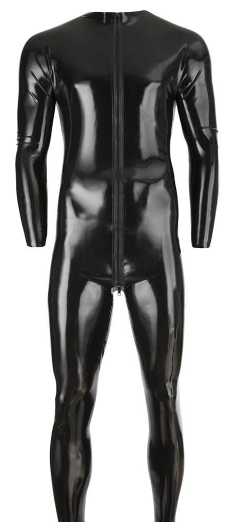 Late X – Latex Men's Jumpsuit black – Lateksinen Kokovartaloasu Miehelle