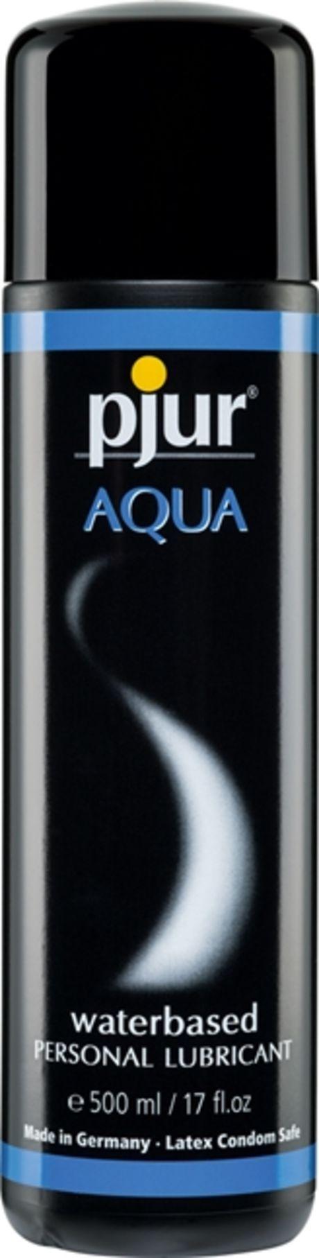 500 ml pjur Aqua – Vesipohjainen Liukaste Kondomeille ja Leluille