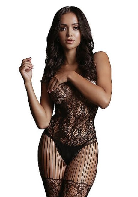 LE DÉSIR Lace and Fishnet Bodystocking