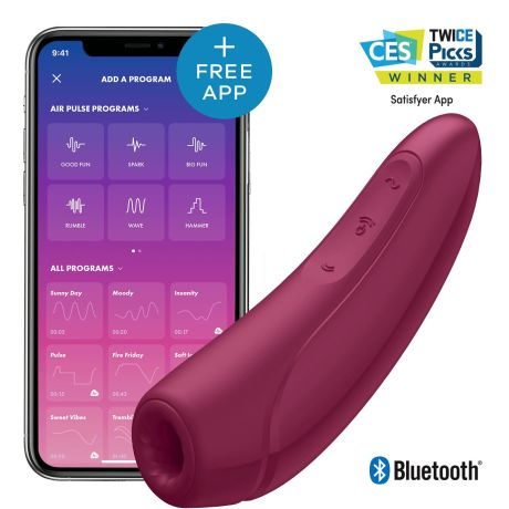 Satisfyer Curvy 1+ App Controlled Clit Vibrator Rosa