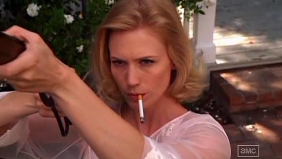 Betty with her gun