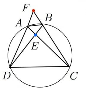 円に内接する四角形と方べき