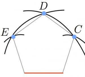 正五角形の作図2
