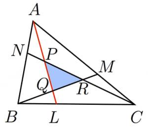 メネラウスの定理による解法