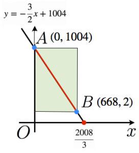 長方形を用いて格子点を数える