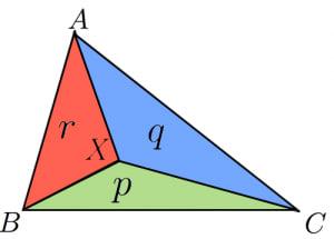 ベクトルと面積比