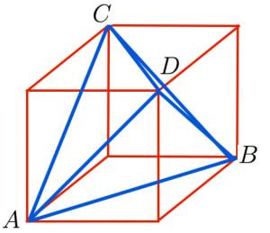 正四面体in立方体