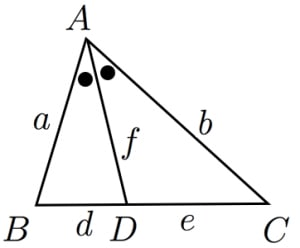 二等分線の公式