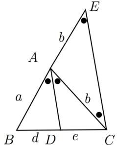 二等分線の公式の証明