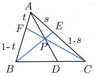 チェバの定理の証明3