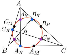 九点円の定理