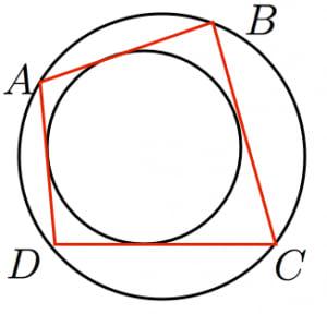 円に内接かつ外接する四角形