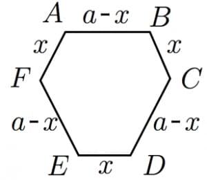 正八面体の断面図