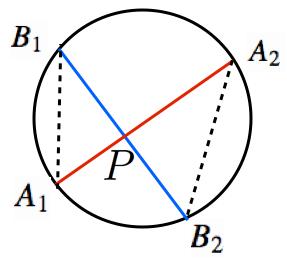 方べきの定理タイプ1