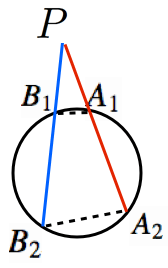方べきの定理タイプ2