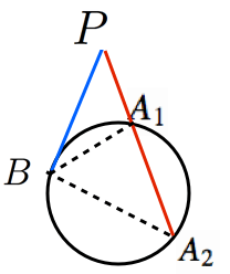 方べきの定理タイプ3