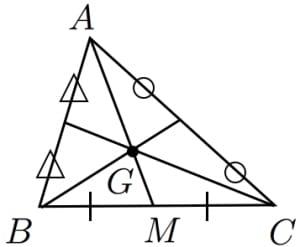 重心と頂点の距離