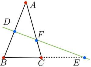 メネラウスの定理の覚え方2