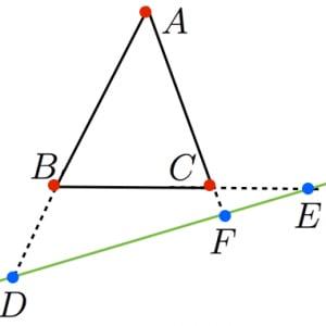 メネラウスの定理の拡張