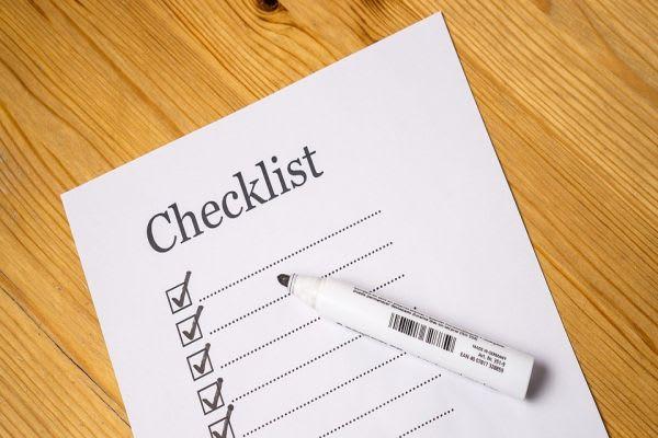 各種項目のチェックリストをイメージした画像