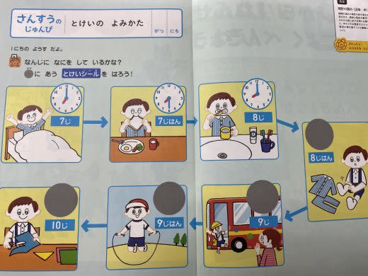 じゃんぷの実際の教材の画像