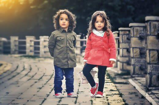 2人の子供