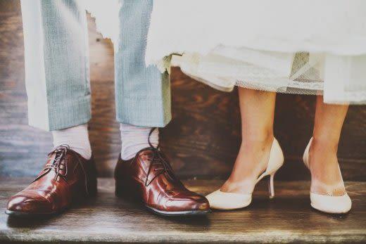 二人の足下