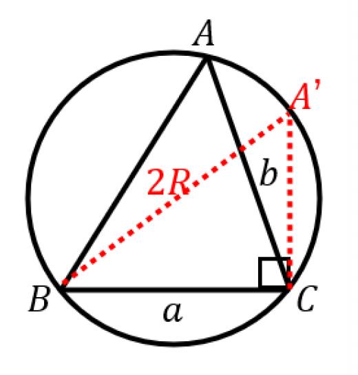 正弦定理の証明2
