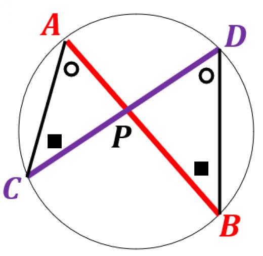 方べきの定理の証明1