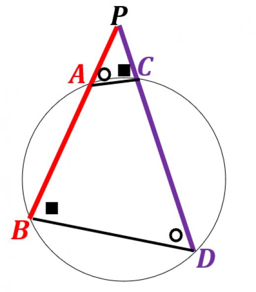 方べきの定理の証明2