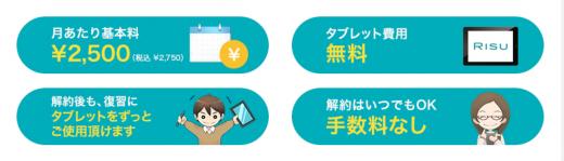 RISU算数の料金の特徴の画像