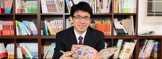 ブンブンどりむを監修する斎藤孝先生の画像