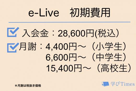 e-Liveの初期費用