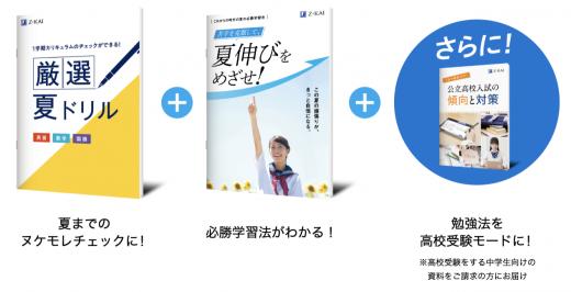 Z会夏伸びキャンペーン教材の画像