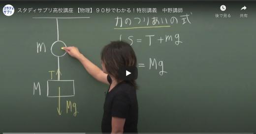 スタディサプリの高校講座の動画の一例