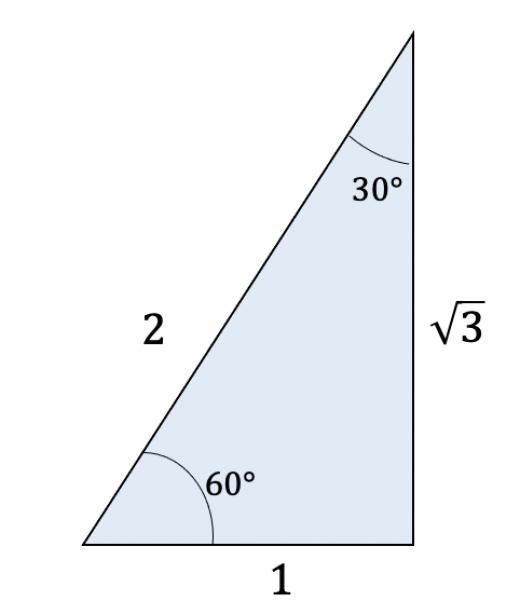 1:2:ルート3の直角三角形