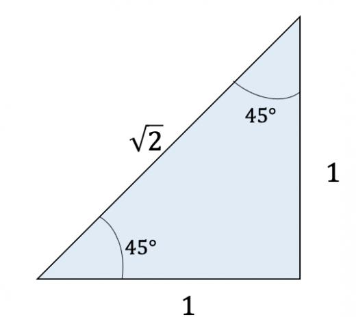 1:1:ルート2の直角三角形