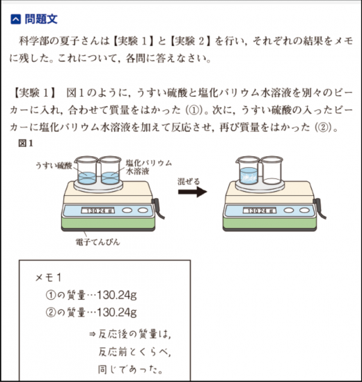 Z会中学生講座コースの理科教材